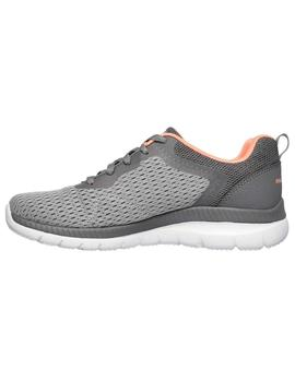 Zapatillas Skechers Bountiful Quick Pat Gris Mujer