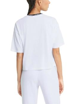 Camiseta Puma Amplified Blanco/Negro Mujer