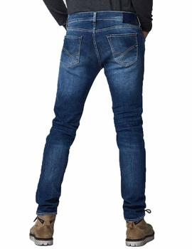 Pantalon Gas Sax Zip Denim Azul
