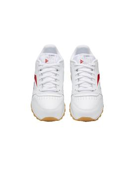 Zapatillas Reebok Classic Leather Blanco/Rojo/Mari