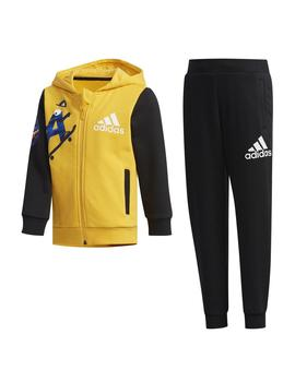 Chandal Adidas LK GFX HDY Amarillo/Negro