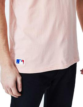 Camiseta New Era MLB Seasonal Team NYY Rosa Hombre