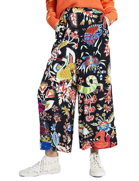 Pantalon Desigual Artemisa Multicolor Para Mujer
