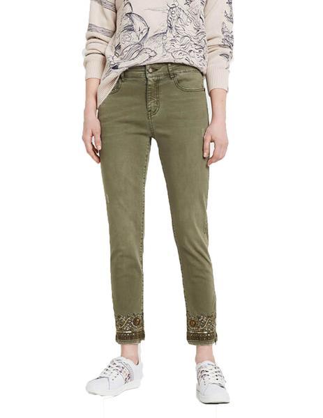 Pantalon Desigual Oneil Verde Para Mujer