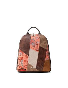 Mochila Desigual Japan Patch Nazca Mini Marron