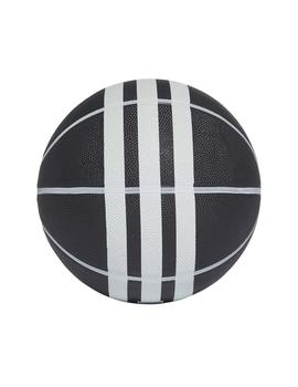 Balon Basket 3S Rubber X Negro/Blanco