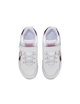 Zapatillas Reebok Royal CLJog Blanco/Rosa Niña