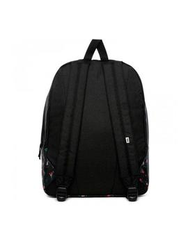 Mochila Vans Realm Negro/Flores Mujer