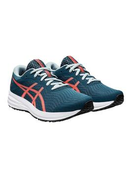 Zapatillas Asics Patriot 12 GS Azul/Coral